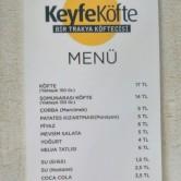 Keyfe Köfte, Ataşehir Menü Sayfa 2