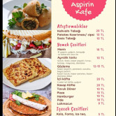 Aspirin Kafe, Karaağaç Menü Sayfa 1