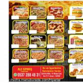 Pizza Queens, Arsuz Menü Sayfa 1